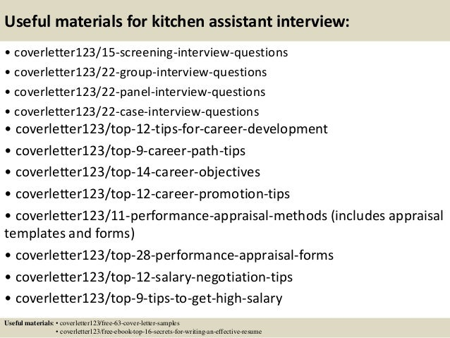 Top 5 kitchen assistant cover letter samples