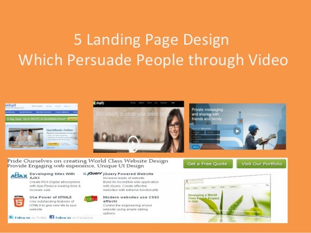 5 Landing Page DesignWhich Persuade People through Video