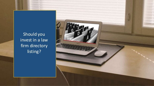 Should you invest in a law firm directory listing?