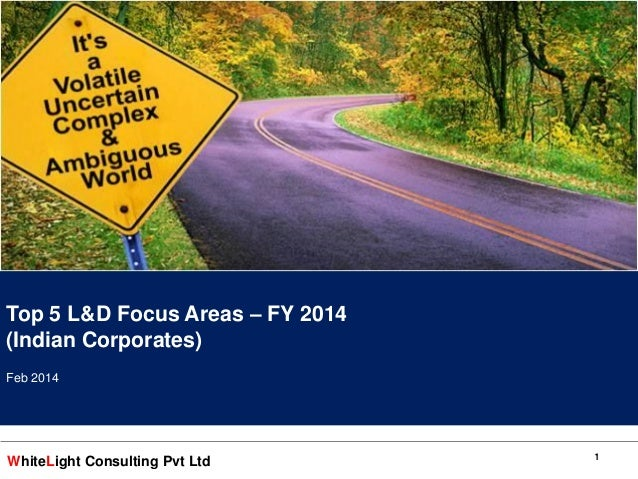 WhiteLight Consulting Pvt Ltd Good to Great Project to build IMPACTful Employees Feb 2013 11 Top 5 L&D Focus Areas – FY 20...