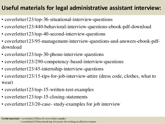 12 Useful Materials For Legal Administrative Assistant
