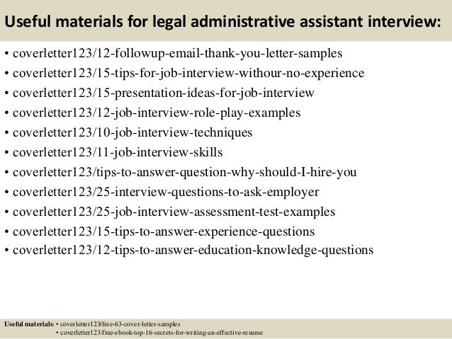 14 useful materials for legal administrative assistant - Administrative Associate Cover Letter