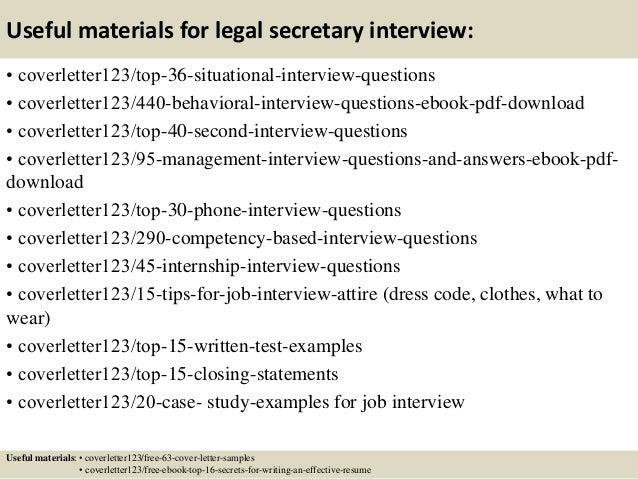 ... 12. Useful Materials For Legal Secretary ...