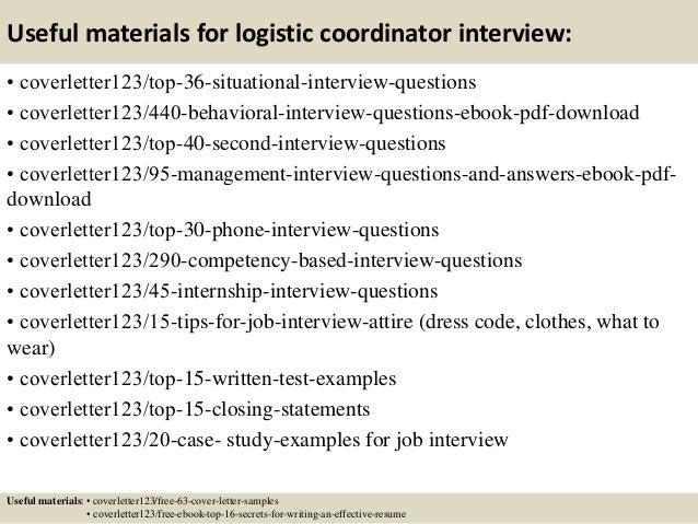 logistics coordinator cover letter - Frodo.fullring.co