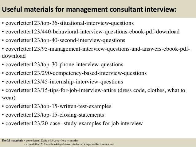 12 useful materials for management consultant - Management Consulting Cover Letter Samples