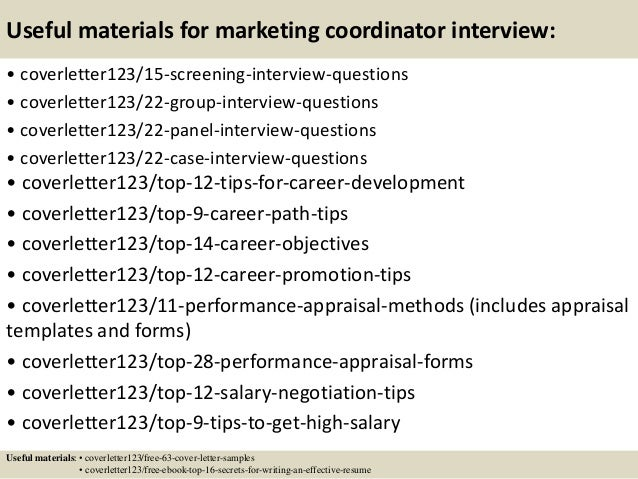 Perfect ... 15. Useful Materials For Marketing Coordinator ...