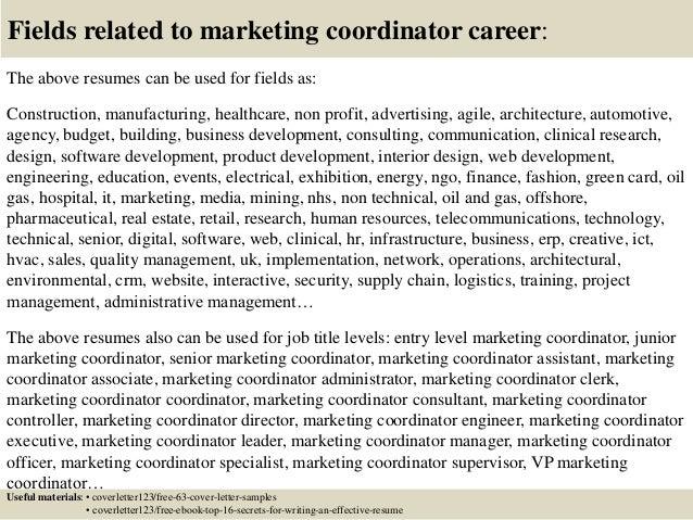 Top 5 marketing coordinator cover letter samples
