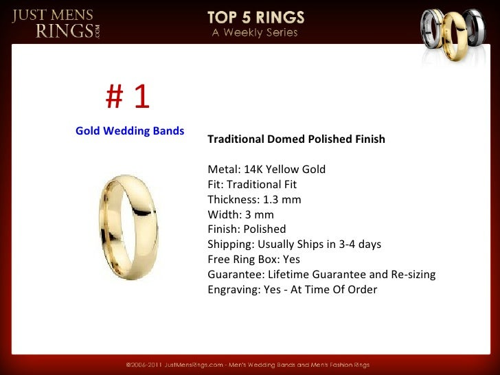 Traditional Domed Polished Finish   Metal: 14K Yellow Gold Fit: Traditional Fit Thickness: 1.3 mm Width: 3 mm Finish: Poli...