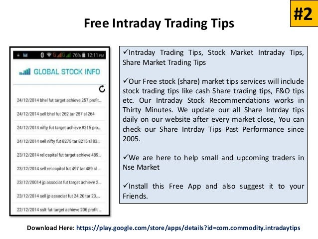 Top 5 Mobile Apps to Get Free Intraday Tips Daily