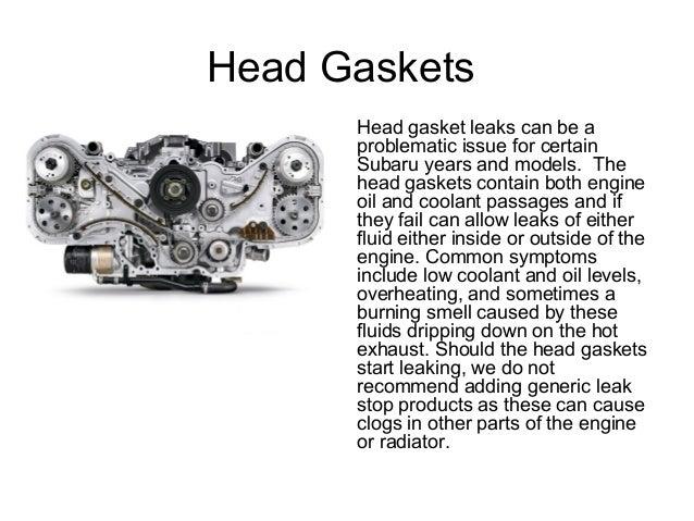 signs of leaking head gasket subaru