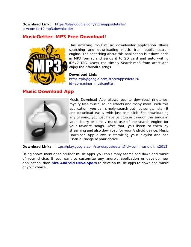top 5 music download apps