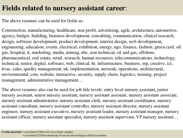 Amazing ... 16. Fields Related To Nursery Assistant ...