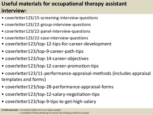 occupational therapy cover letter
