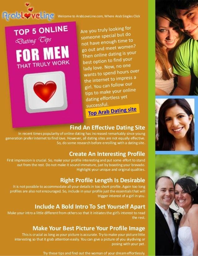 Do online dating sites work for men
