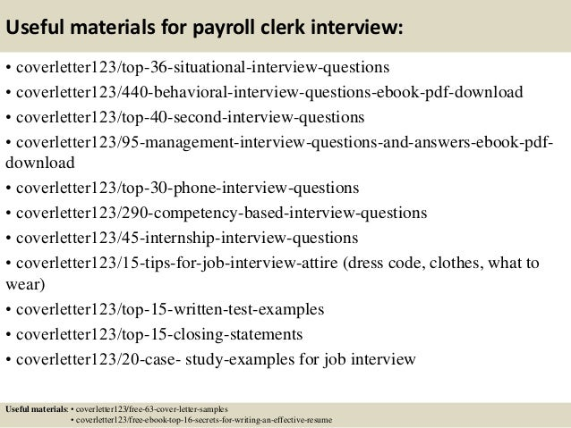Nice ... 12. Useful Materials For Payroll Clerk ...