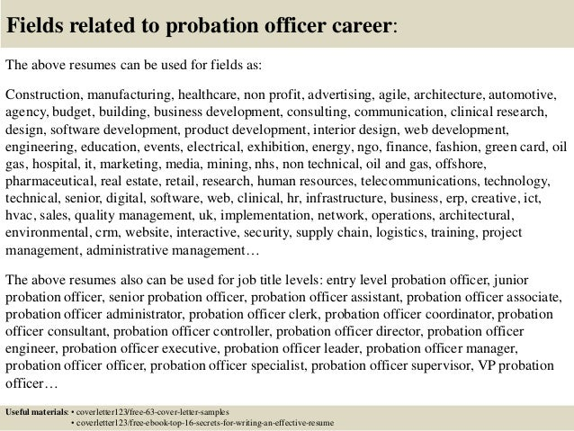 16 Fields Related To Probation Officer