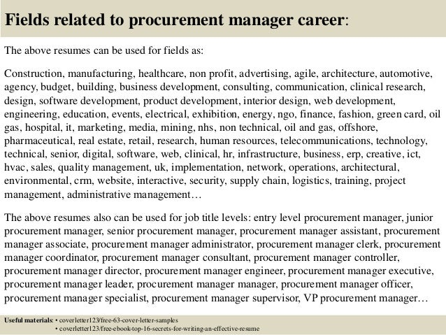 Captivating ... 16. Fields Related To Procurement Manager ...