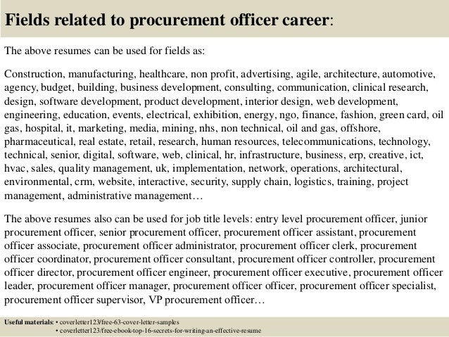 Top 5 procurement officer cover letter samples