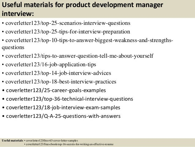 Top 5 product development manager cover letter samples