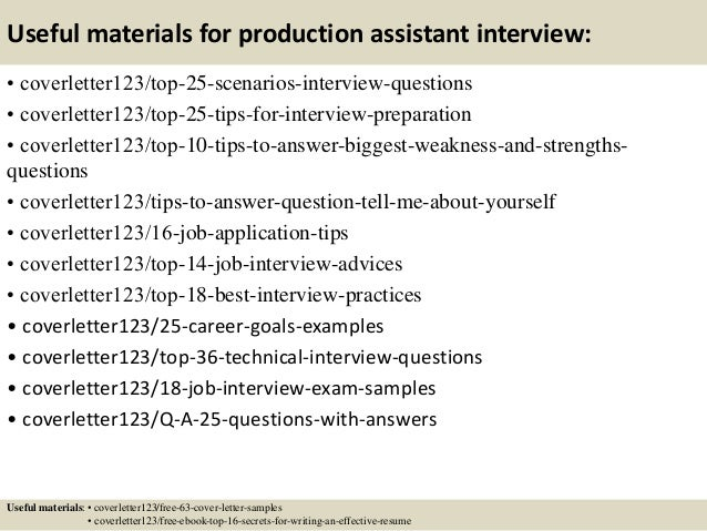 13 Useful Materials For Production Assistant