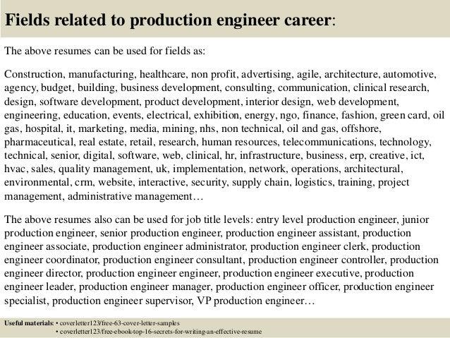 production engineer cover letter - Neva.dlugopisyreklamowe.co