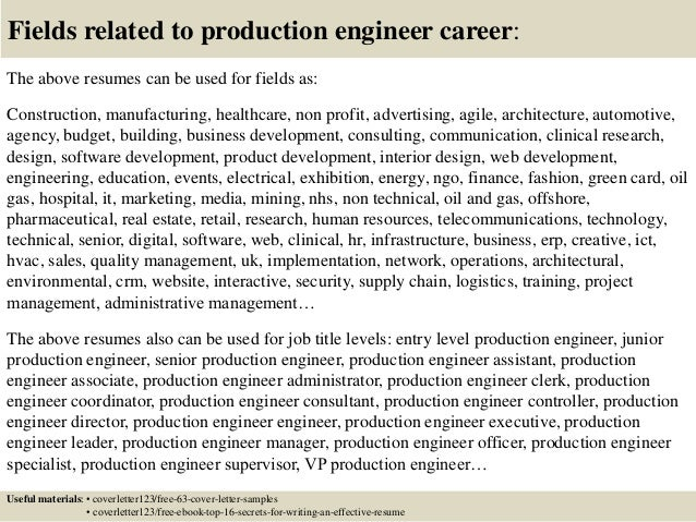 ... 16. Fields Related To Production ...