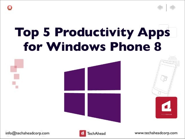 Top 5 Productivity Appsfor Windows Phone 8