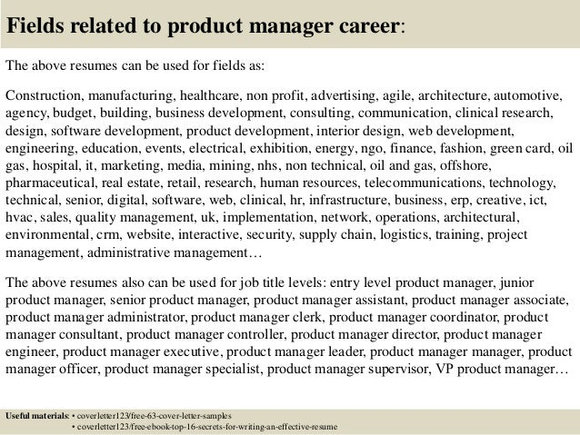 Top 5 product manager cover letter samples