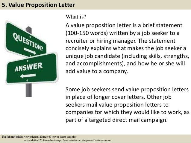 10 - Professional Resume Cover Letter Sample
