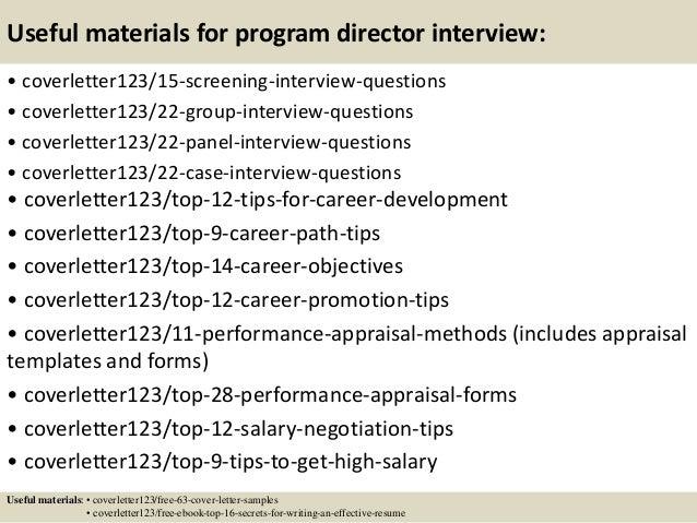 Top 5 program director cover letter samples