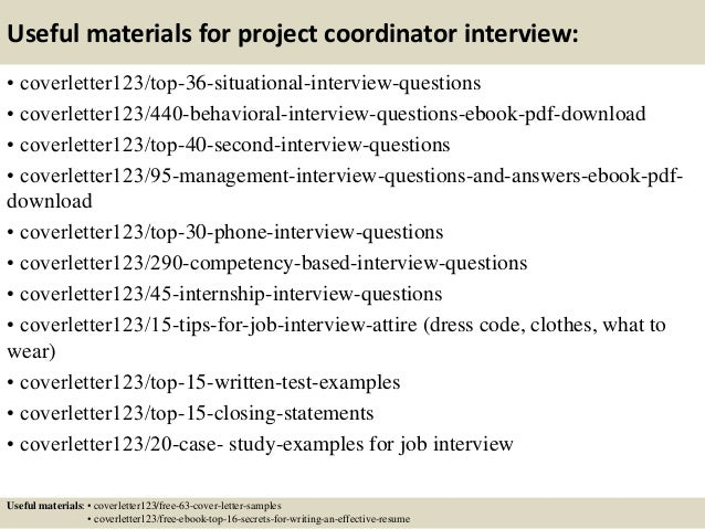 ... 12. Useful Materials For Project Coordinator ...