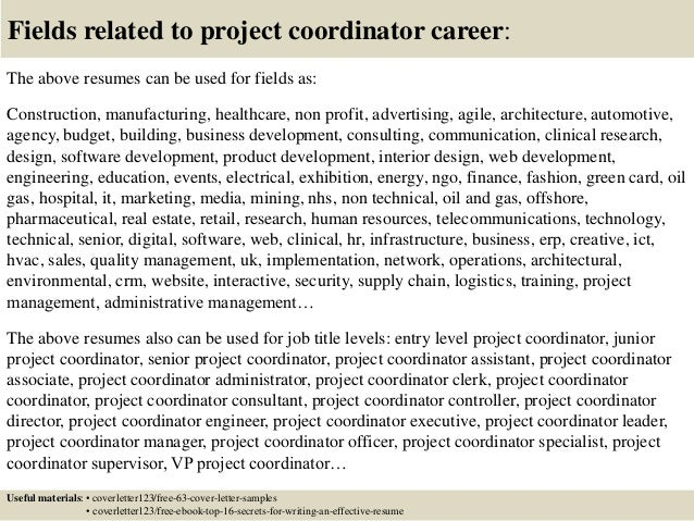 ... 16. Fields Related To Project Coordinator ...