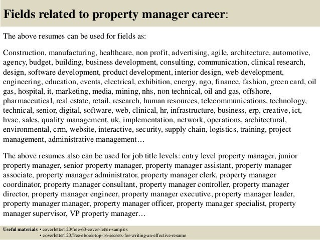 16 Fields Related To Property Manager
