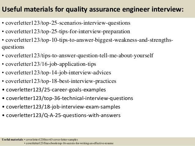 sample cover letter for quality assurance job - Elim ...