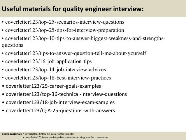 Top  Quality Engineer Cover Letter Samples