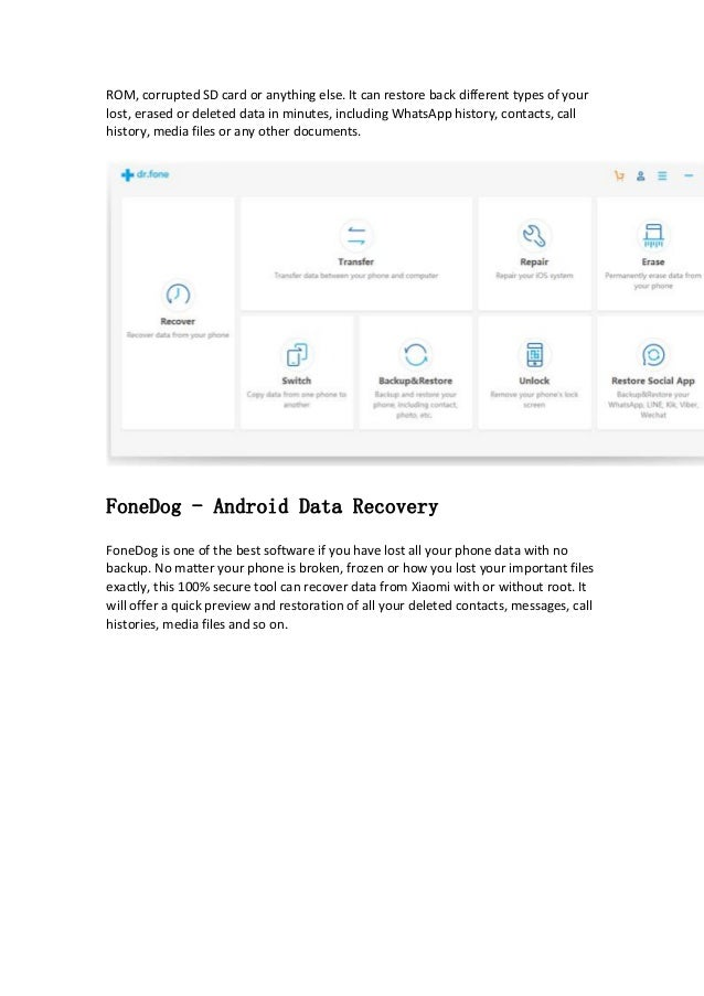 Top 5 Safe Xiaomi Data Recovery Software
