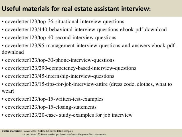 12 useful materials for real estate - Cover Letter For Real Estate Job