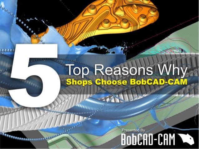 Top 5 Reasons CNC Shops Choose BobCAD-CAM Software