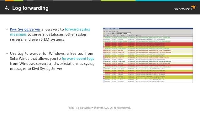 Top 5 Reasons to Use Kiwi Syslog Server