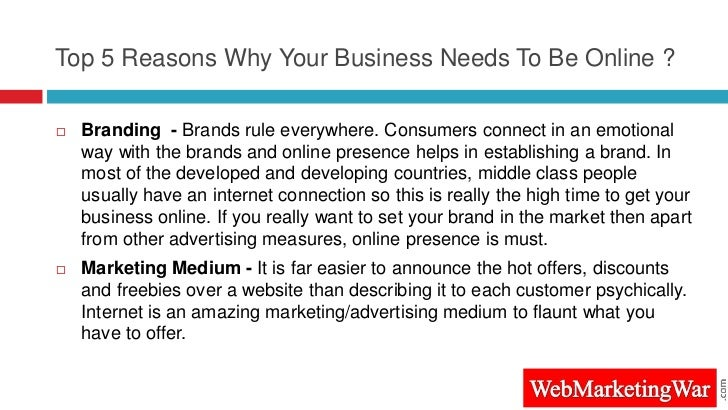 Top 5 Reasons Why Your Business Needs To Be Online