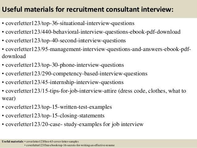 ... 12. Useful Materials For Recruitment Consultant ...