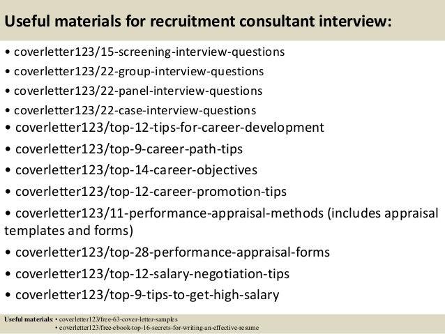 ... 15. Useful Materials For Recruitment Consultant ...
