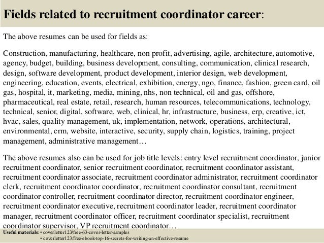 16 fields related to recruitment