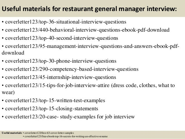 12 Useful Materials For Restaurant General Manager