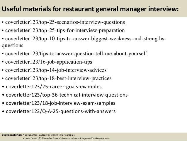 Top 5 restaurant general manager cover letter samples – Restaurant General Manager Job Description