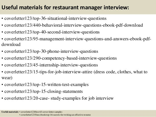 Top 5 restaurant manager cover letter samples – Restaurant Management Cover Letter