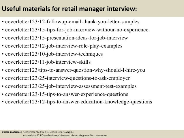 top 5 retail manager cover letter samples