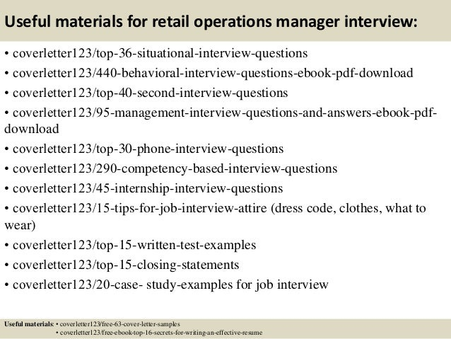 Top 5 retail operations manager cover letter samples