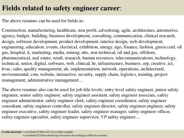 Safety Engineer Cover Letter Entracing Process Safety Engineer