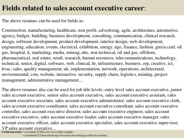Top 5 sales account executive cover letter samples